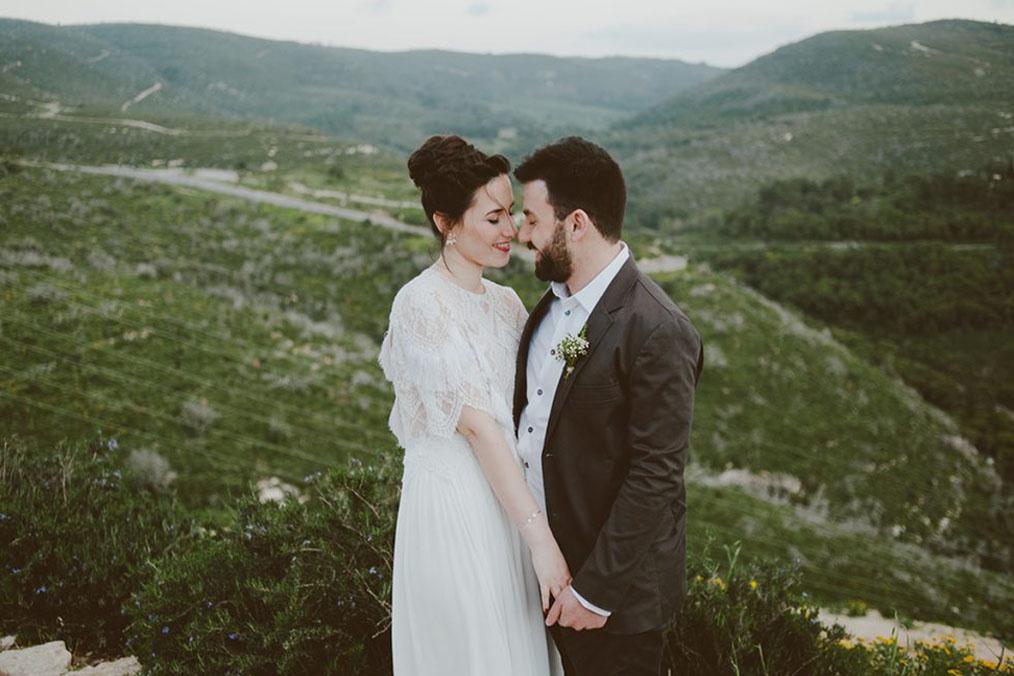 מתוך החתונה הרומנטית של אור ועדן בהר הכרמל. צילום: חגי גלילי