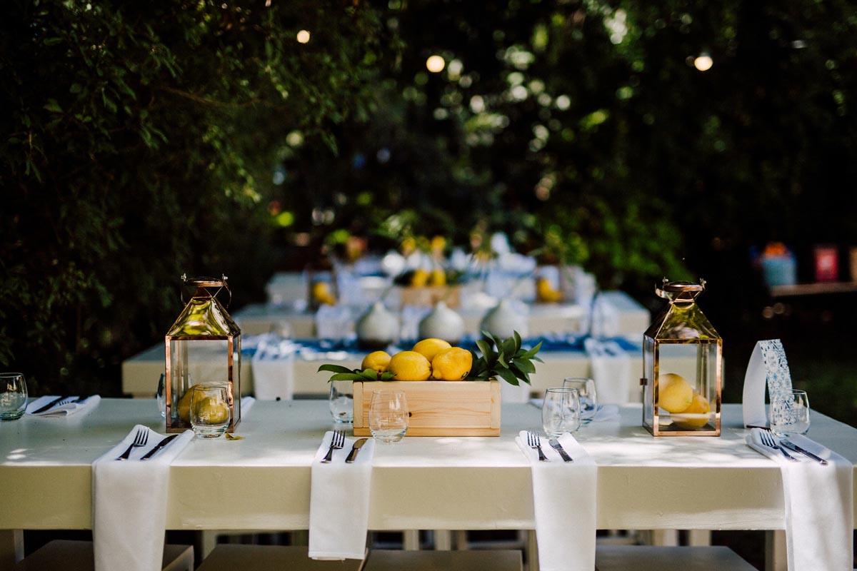 החתונה היוונית של רועי וקורל - סטודיו ציפורות - הפקה עיצוב ומיתוג אירועים