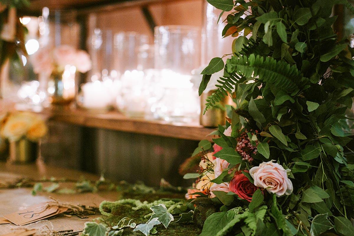 עיצוב בת מצווה בסגנון יער חורפי קסום - סטודיו ציפורות - הפקת, עיצוב ומיתוג אירועים